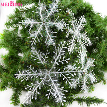 30pcs Snowflakes Christmas Hanging Pendants Home Tree Decorations Ornaments New Year Frozen Party Winter Decoration