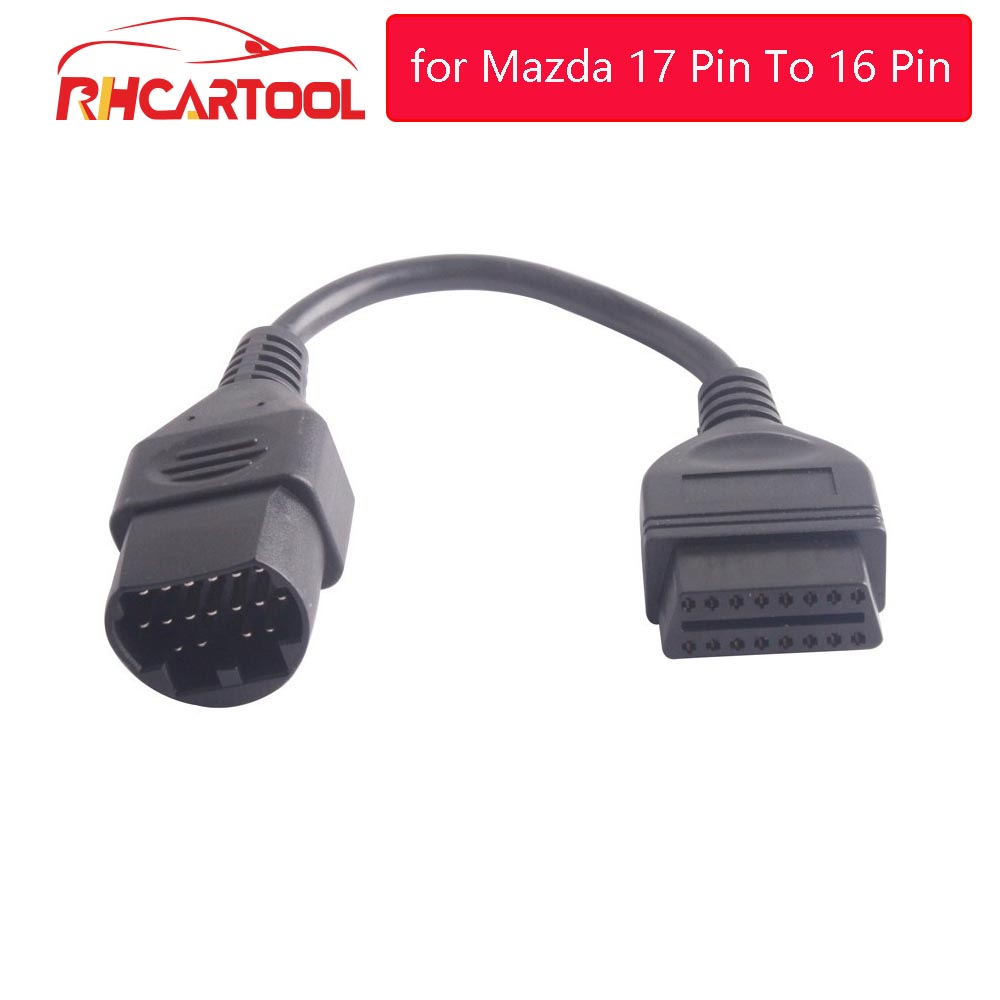 New for Mazda 17 Pin To 16 Pin Connector OBD2 OBDII Diagnostic Adapter for Mazda 17Pin Male Cable For Mazda Series Free Ship