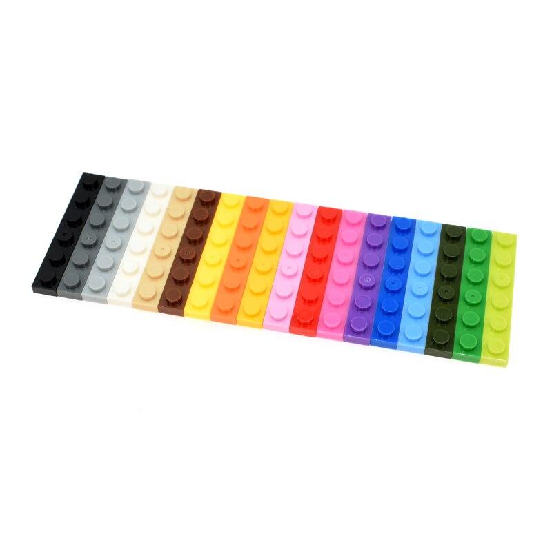 3666 30pcs/lot 1X6 Building Block Part DIY Toy For Kids Multicolor Creative B582