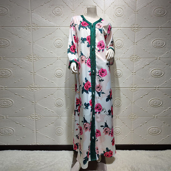 Dubai Turkey Abaya Arabic Hijab Muslim Satin Dress Islamic African Dinner Dresses Abayas For Women