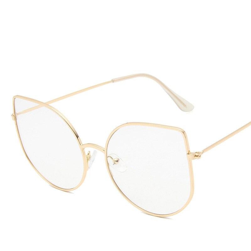 New Korean Version Of The Metal Cat-eye Flat Mirror Women's Fashion Hundred Framed Spectacle Frame Ins Net Red Glasses Frame