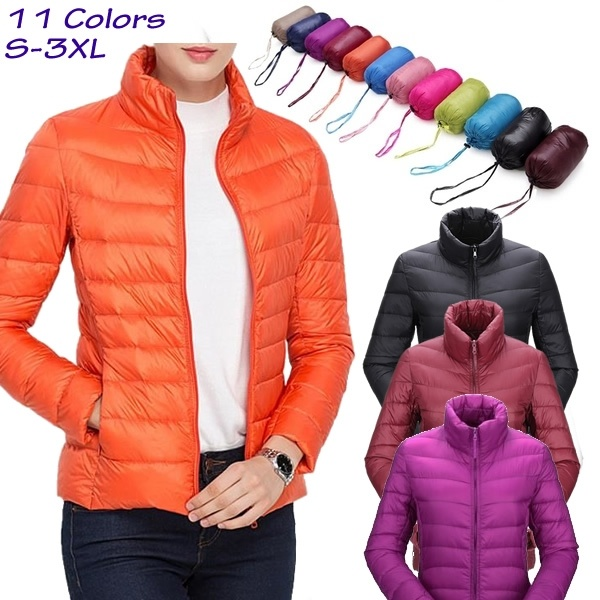 ZOGAA Women's Parkas Winter Jacket Coat For Woman Casual Solid Stand Collar Parka Jackets Female Cotton Coat Slim Fit Outwear