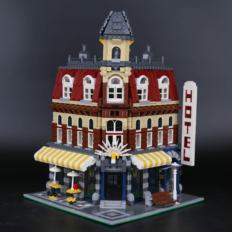 Cafe Corner 15002 Model Building Blocks Bricks Compatible with Legoings 10182 City Street View Bricks Toy for Children 2