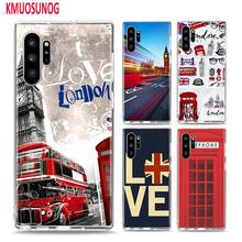 Soft TPU Cover London big ben Bus for Samsung Galaxy Note 10