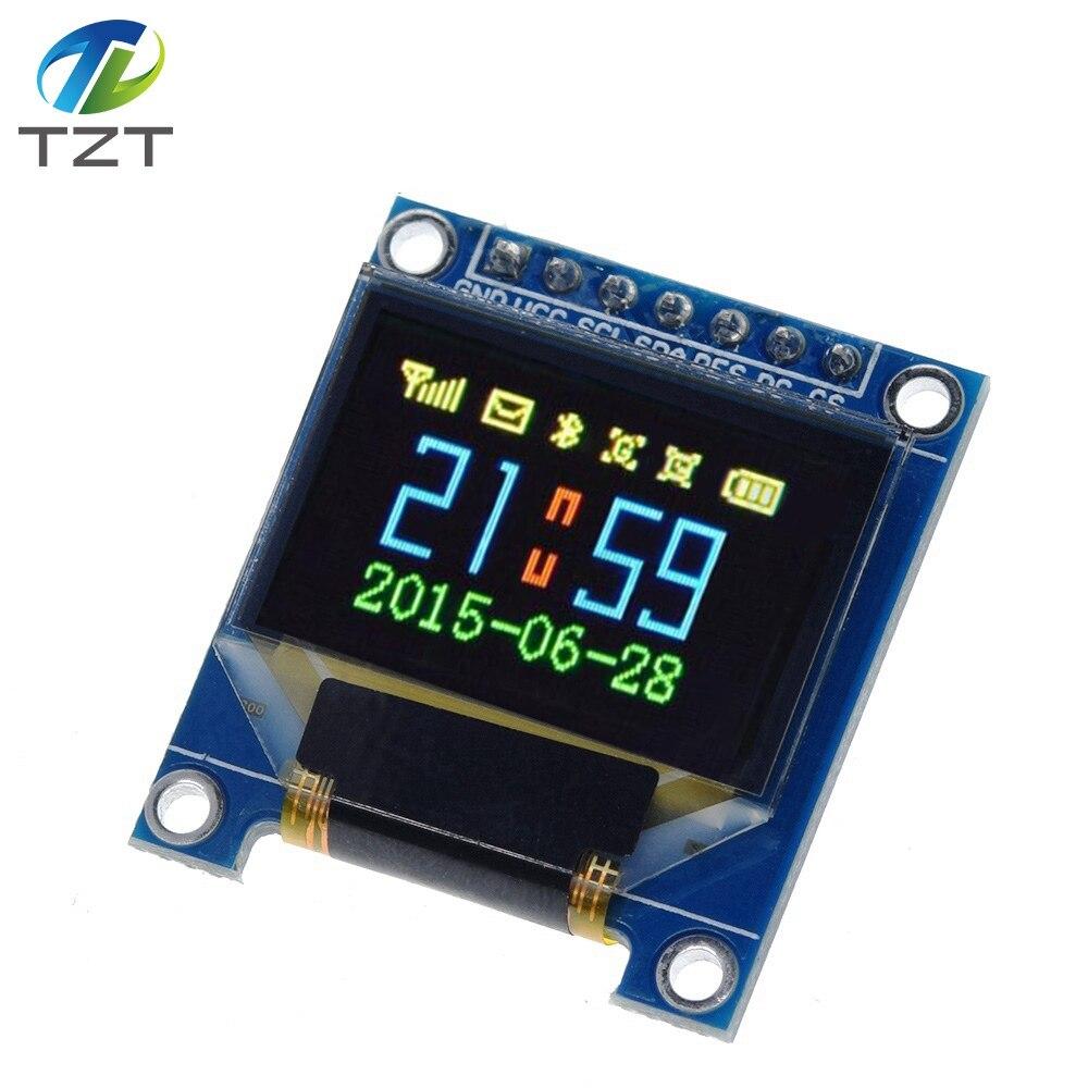 Módulo de exibição oled da cor completa de tzt 0.95 polegadas com resolução 96x64, spi, relação paralela, controlador ssd1331 7pin novo