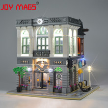 JOY MAGS Only Led Light Kit For 10251 Creator Brick Green Bank Lighting Set Compatible With 15001/84001 (NOT Include Model)