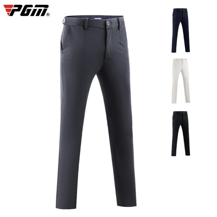 Vestuário de Golfe com Zip Homens Outono Inverno Respirável Golfe Calças Esportivas Estiramento Magro Jóias Bolso Pgm 2020