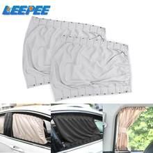 2 unids/set Universal del lado del coche parasol para la ventana cortinas de ventanas cortina de aleación de coche de aluminio cortina visera de sol persianas cubierta