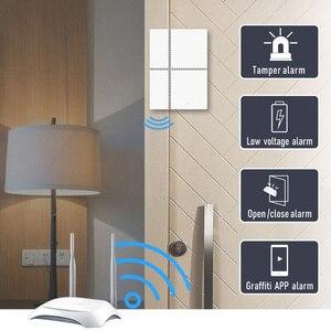Image 2 - チュウヤスマート無線 Lan ドアセンサー 433mhz ワイヤレスアプリ制御ドア窓セキュリティ警報オープニングドアセンサー互換 Alexa/ IFTTT