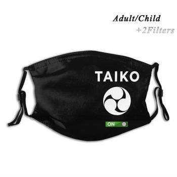 Taiko Mitsudomoe White Mode On Graphic Design Print Reusable Pm2.5 Filter DIY Mouth Mask Kids Taiko Taiko Lovers Musicians image