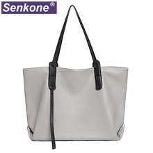 Large Capacity Women Bags 100% Genuine Lether Big Female Handbag Famous Brand Ladies Shoulder Shopper Bags Hand Bag Totes gray