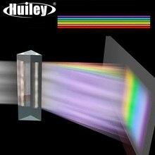 180x40mm Lange Dreiecks Prisma BK7 K9 Optische Glas Physik Lehre Gebrochen Licht Spektrum Kinder Vorhanden mit Geschenk box