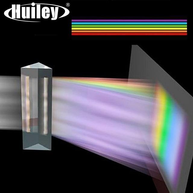 Prisme triangulaire Long 180x40mm BK7 K9, verre optique, enseignement de la physique, spectre lumineux réfractaire, présent aux enfants avec coffret cadeau