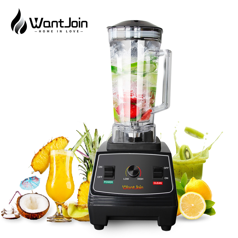 WantJoin 2L High Duty Commercial Blender Professional Mixer Grade Juicer Maker CE High Power Food Processor Ice Smoothie Machine
