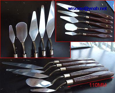 DHL/EMS 20 Sets Stainless Steel Spatula Palette Knife Painting Mixing Scraper A8