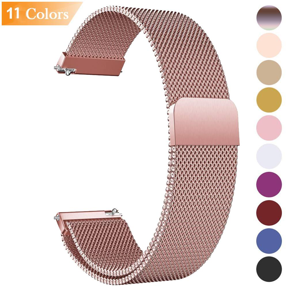 For Samsung Galaxy 42 46mm Watch Bands Straps 20mm 22mm Loop Milanese Strap Stainless Steel Quick Release Gear S3 14 16 18 24mm