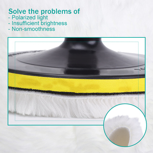 Image 5 - وسادة تلميع إسفنجية للسيارة ، وسادة تلميع بخيط M10 M14 ، 4 و 5 و 6 و 7 بوصة ، محول مثقاب جلخ ، ملحقات أدوات إزالة الشعر