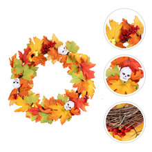 1Pc crâne en forme de guirlande guirlande d'halloween pour fête Orange(China)