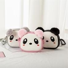 цены Children's Shoulder Bag Plush Ear Toddler Casual Shoulder Bag Children Kids Girls Messenger Princess Mini Small Bag