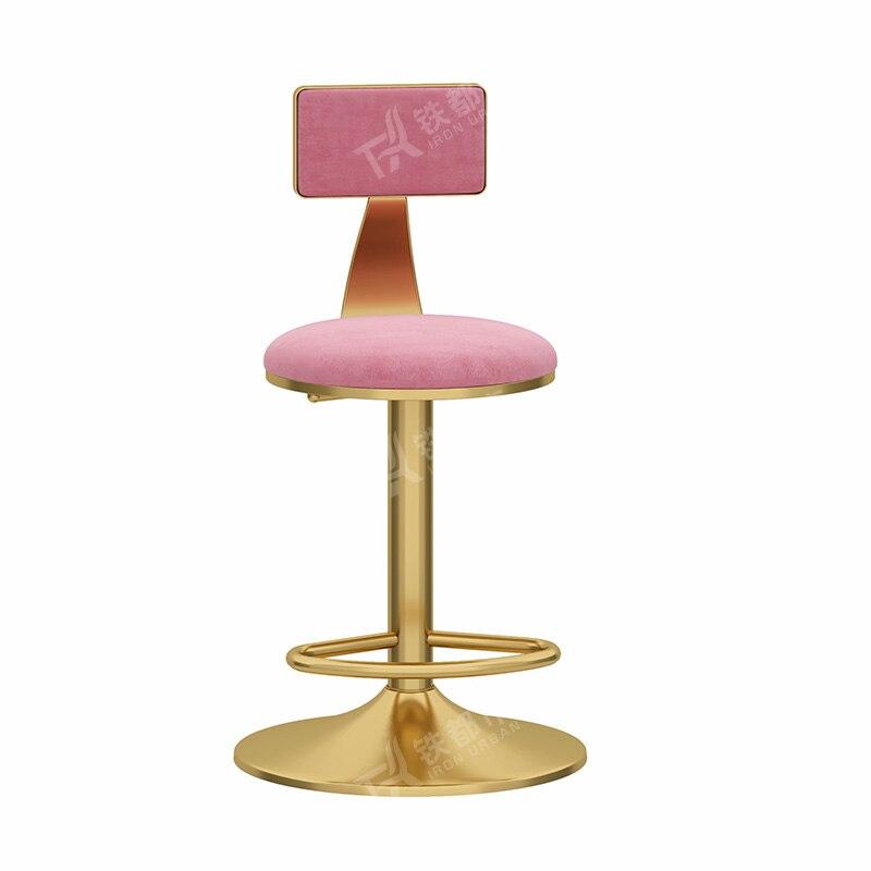 Nordic Light Luxury Lift Bar Chair Rotating American High Chair Fashion Bar Chair Simple Back High Stool