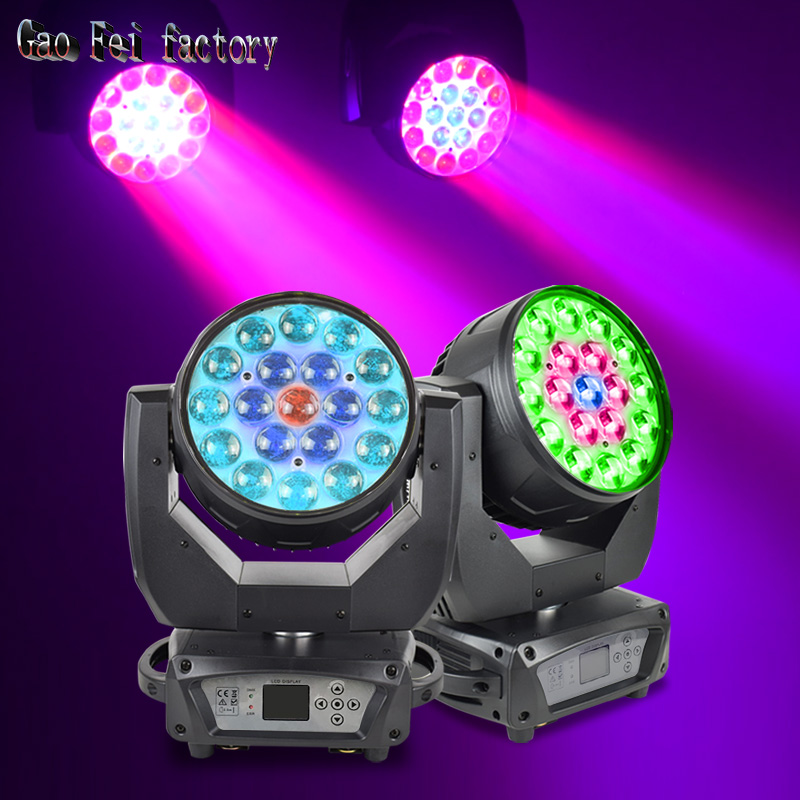 Moving Head Dmx LED Wash Spot Light With 19pcs 15Watt RGBW 4in1 LEDs Good For Stage Lighting DJ Bar