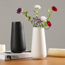 Modern ceramic vase  Simple Ceramic Vases Tabletop Vase European Style Home Decoration Black Vase Fashion Flowerpot european ceramic vase creativity simple and modern style tabletop white vases high quality handmade wedding home decor crafts