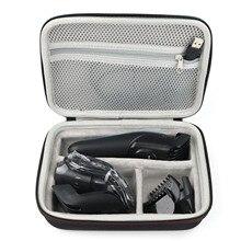 Besegad المحمولة ماكينة حلاقة الشعر المقص للصدمات إيفا تخزين الصلب حقيبة حمل صندوق واقية ل Braun MGK 3020 3060 3080