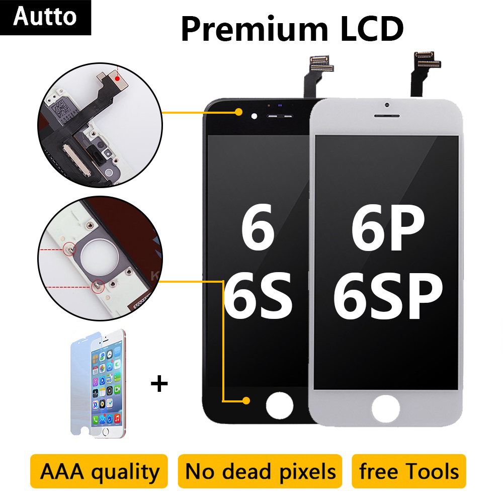 10PCS Quality AAA for <font><b>iPhone</b></font> 6 <font><b>6S</b></font> 6P <font><b>6S</b></font> Plus LCD display screen Digitizer Replacement Touch Screen Pantalla <font><b>ecran</b></font> 3D touch image
