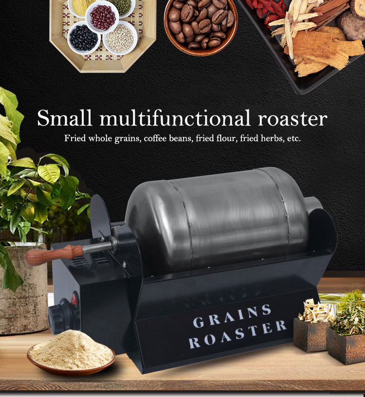 Small household automatic roasting machine Multifunctional melon seed fried sesame machine Coffee bean roaster image