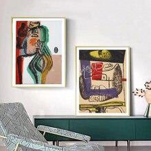 Le corbusier художественный холст с винтажным принтом плакат