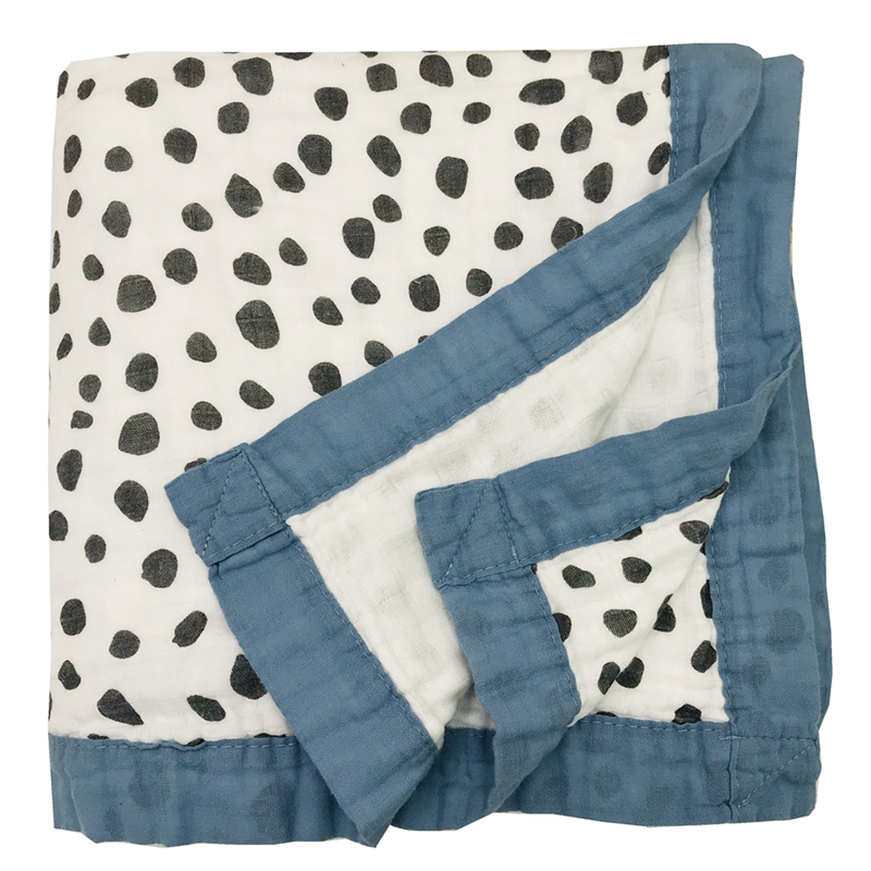 Ins Hot Four Layer Spot Bamboo Cotton Muslin Baby Blanket For Newborn Swaddle Wrap Swaddling Bedding Blankets