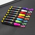 8 шт./цветов светлая флуоресцентная жидкость мел маркер ручка для Светодиодный доски для письма доска стеклянная живопись граффити офис