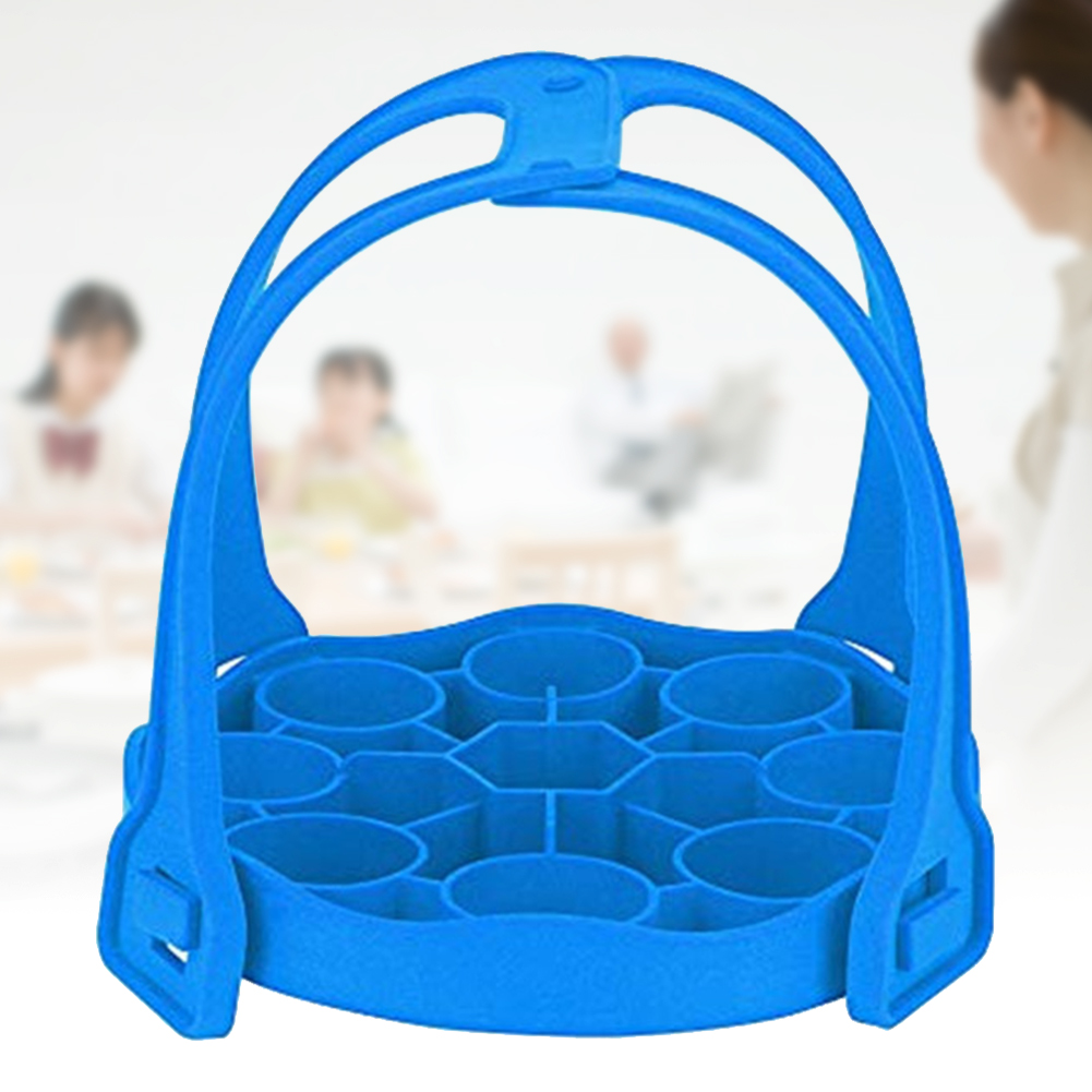 Washable Pressure Cooker Sling Anti Slip Heat Insulated Silicone Steamer Kitchen Egg Rack Detachable Dual Handle Storage Liner