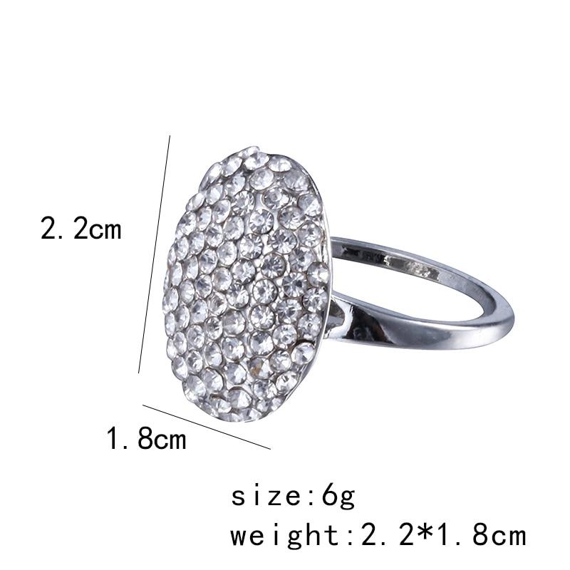 Jewelry Charm Replica Crystal-Ring Wedding-Ring Twilight Engagement Silver Vampire Valentine
