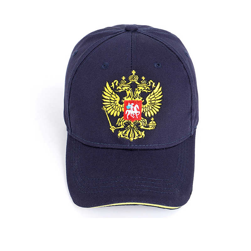 Fashion Neutral Cotton Outdoor Baseball Cap Russia Badge Embroidery Snapback Fashion Sports Hat Men And Women With Patriot Hat