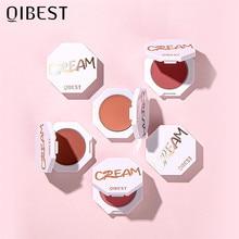 QIBEST – Palette de fards à joues mats pour le visage, 6 couleurs, poudre pour joues, Rouge, Pigment minéral, cosmétiques, maquillage naturel durable