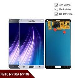 جديد الأصلي LCD لسامسونج غالاكسي نوت 4 N910 N910A N910F N910H شاشة تعمل باللمس محول الأرقام الجمعية شحن مجاني