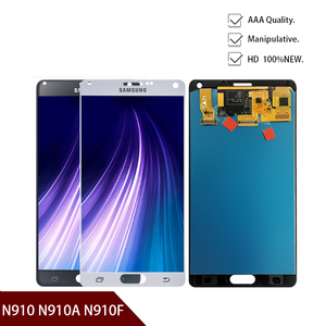 Nowy oryginalny LCD do Samsung Galaxy Note 4 N910 N910A N910F N910H ekran dotykowy Digitizer zgromadzenie darmowa wysyłka