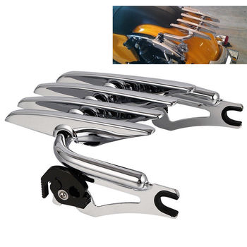Motorcycle Detachable Luggage Rack For Harley Touring Electra Glide Road King Custom FLHRC FLHT FLHX 2009-2019 Carrier bagagerek for harley touring road king street glide electra glide detachable backrest sissy bar with stealth luggage rack 2009 2018 2019