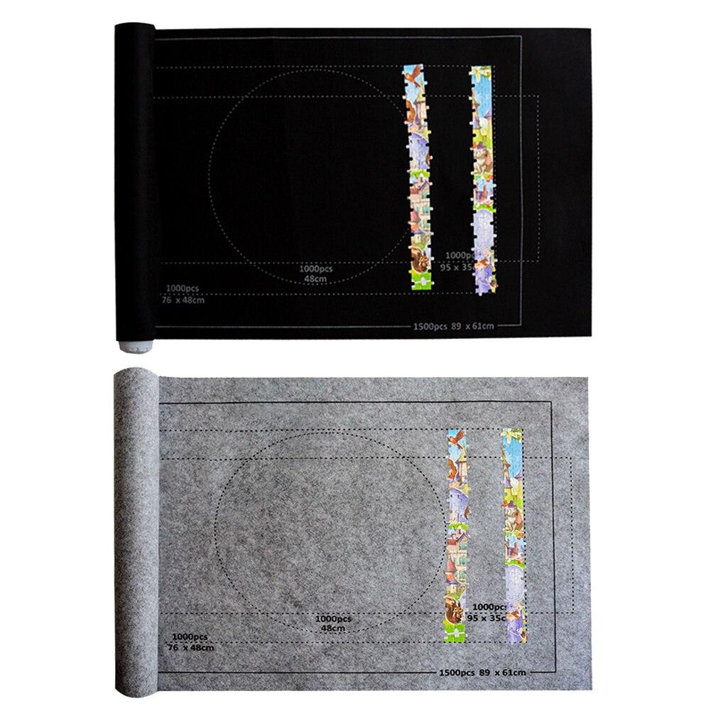 26x46 Inch Puzzle Matte Für Puzzle Roll Up Jigsaw Felt Playmat For Up To 1500pcs Storage Puzzle Rolle Matte Teppich Matte Bab