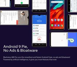 "Image 4 - Blackview A80 Pro Quad Rear Camera Octa Core 4GB+64GB Mobile Phone 6.49"" Waterdrop 4680mAh 4G Celular Smartphone Global Version"