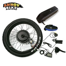 """Задний привод для снежного велосипеда 2"""" 26"""" 4,0 Fat 48 в 1500 Вт Bicicleta электровелосипед мотор электрический Fat с батареей велосипед конверсионный комплект 4,0 шины"""