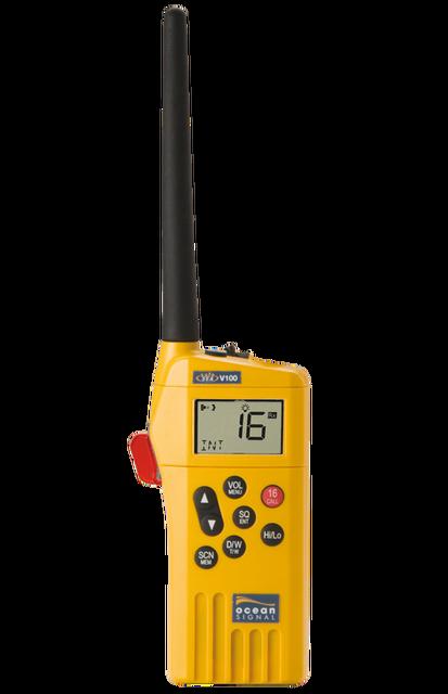 Embarcation de survie de signal docéan V100 émetteur-récepteur marin smdsm portable VHF radio poignée téléphone bateau maritime navicom IMO SOLAS