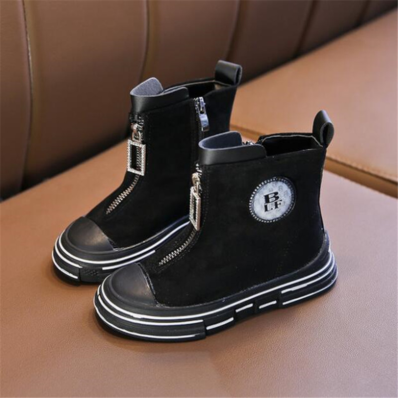 Kids Ankle Boots Girls Boys Winter Leather Chelsea Martin Boots Toddler Shoes US