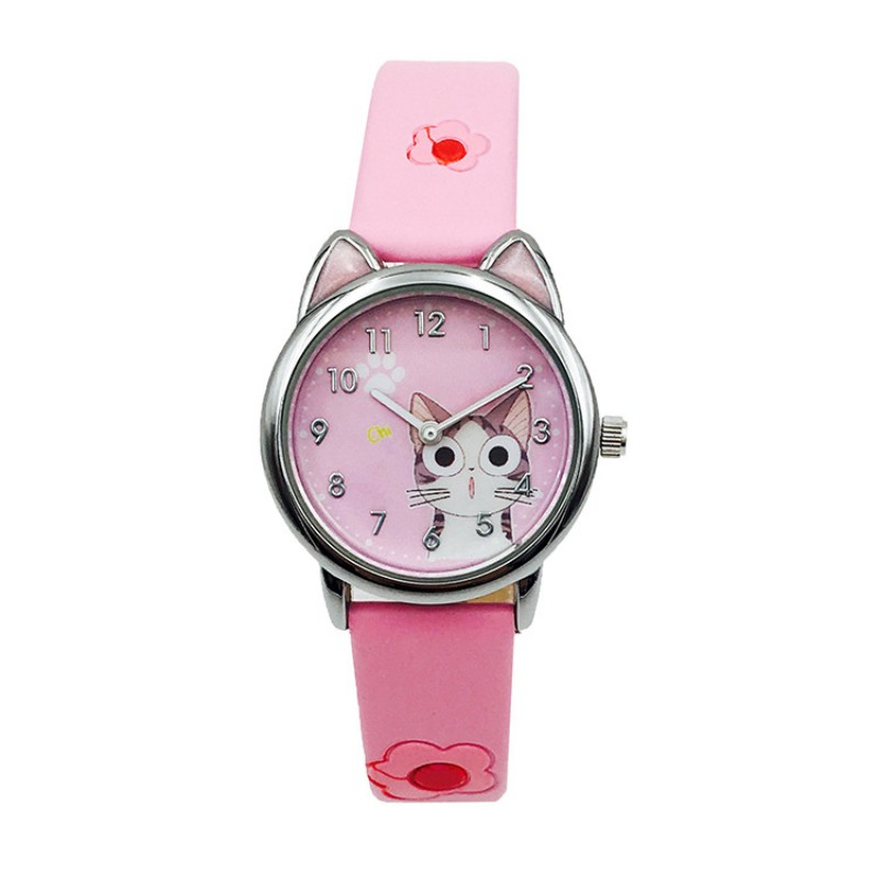 New Arrival Cute Cat Children Fashion Watches Quartz Jelly Kids Clock Boys Girls Students Gift Watch Relogio Kol Saati