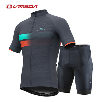 LAMBDA summer pro cycling car team cycling suit MTB road bike outdoor sports short-sleeved cycling suit