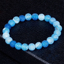 Fashion Jewelry Natural Weathering Stone Bracelets for Women Men Adjustable Chakra Bracelet Prayer Jewelry Pulseras Hombre Gifts