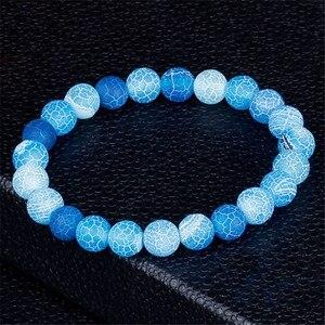 Image 5 - Klasyczne bransoletki z kamienia naturalnego dla kobiet mężczyzn regulowane koraliki bransoletka Chakra biżuteria modlitewna Pulseras Hombre prezenty