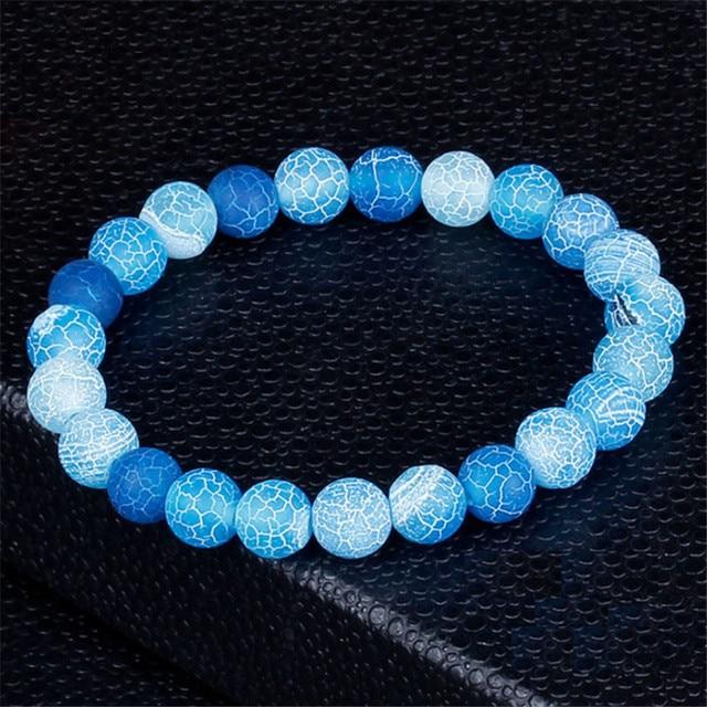 Moda jóias natural weathering pedra pulseiras para mulheres homens ajustável chakra pulseira de oração jóias pulseras hombre presentes