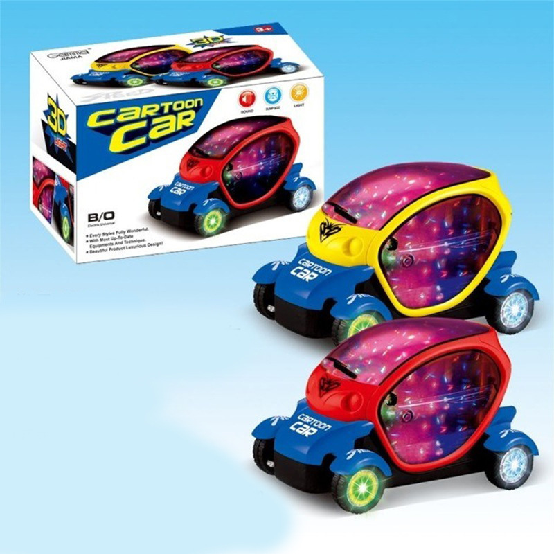 New Style With 3D Light And Music Electric Universal Car Children Flash Toy Car Model Boy Shining Car Toy